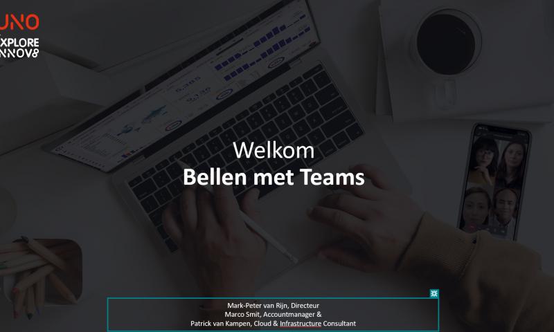 webinar bellen met Microsoft Teams